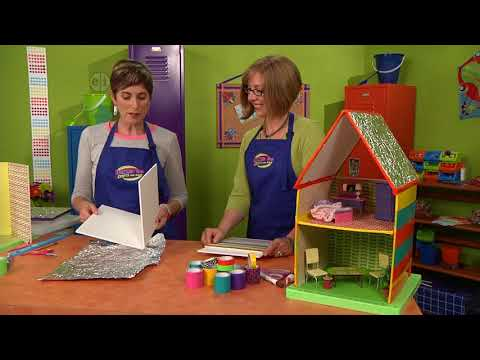 Playhouse for dolls on Hands On Crafts for Kids with Katie Hacker and Candie Cooper (1602-2)