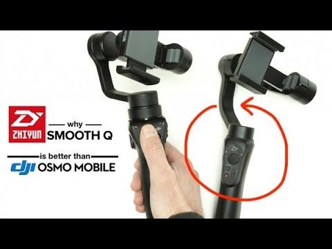 Why ZhiYun Smooth Q is better than DJI OSMO Mobile 2 - iPhone Gimbal Review - Netcruzer TECH