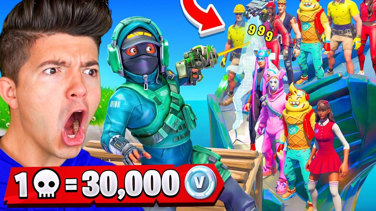 1 Kill = 30,000 VBucks! ft Fresh, Typical Gamer and Bugha - Fortnite