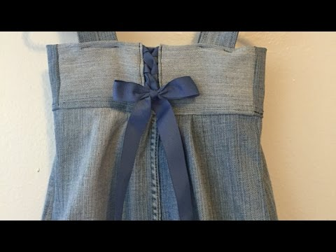How To Add An Adorable Lace Up Back To A Dress - DIY Style Tutorial - Guidecentral