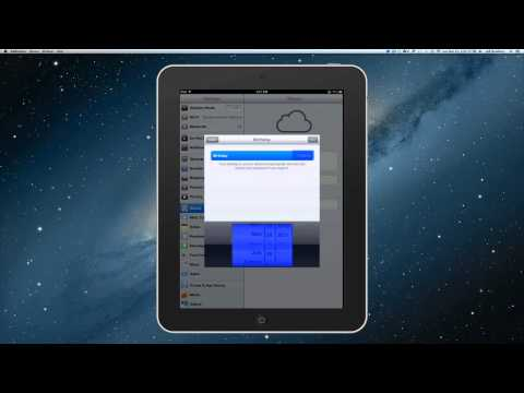 Intro to iPads: Creating a new iCloud account and email address