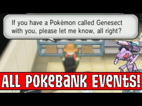 All PokéBank Exclusive Events in Pokemon X and Y