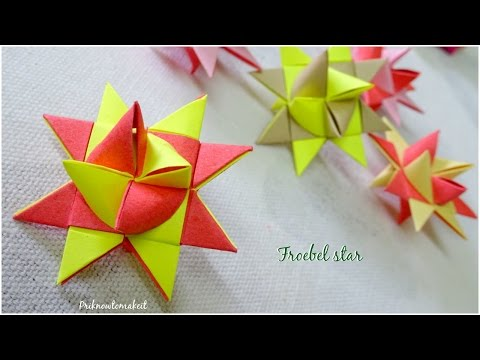 Origami froebel star | DIY paper star | Christmas craft