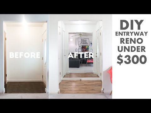 DIY Entryway / Foyer Renovation Under $300 | Modern Builds