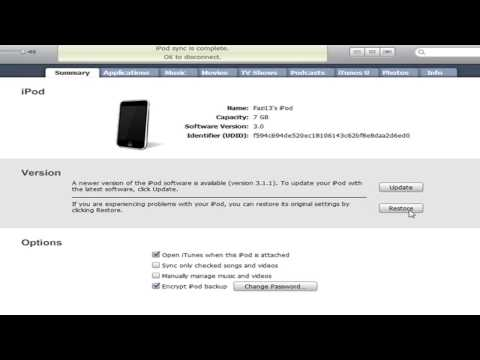 How to Get iPod Touch 2g 3.1.1 Firmware Free