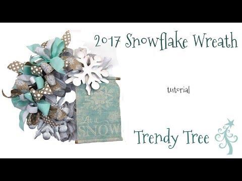 2017 Snowflake Wreath Tutorial by Trendy Tree