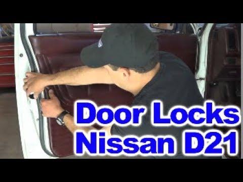 Repairing broken Door Lock Mechanism on Nissan D21 Hardbody Pick ups