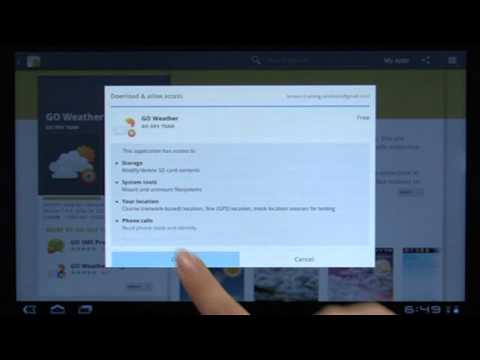 Tablet K1: Installing Apps from Android Market
