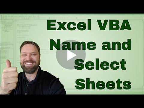 Excel VBA Naming and Selecting Sheets