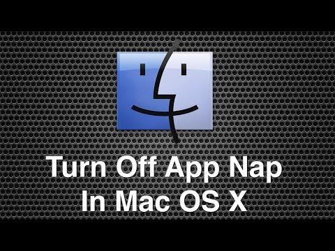 Turning Off App Nap Within Mac OS X