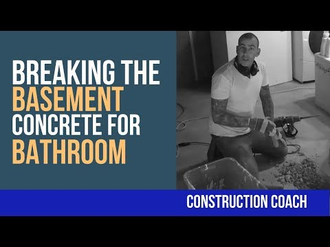 Breaking the Basement Concrete for Bathroom -  DIY Plumbing