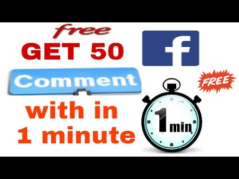 How to get free comments on Facebook.