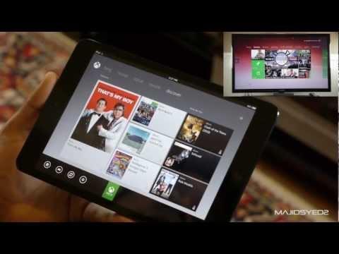 Xbox SmartGlass Walkthrough / Demo on iPad Mini
