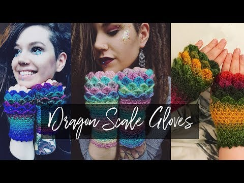 Crochet Dragon scale gloves | easy tutorial