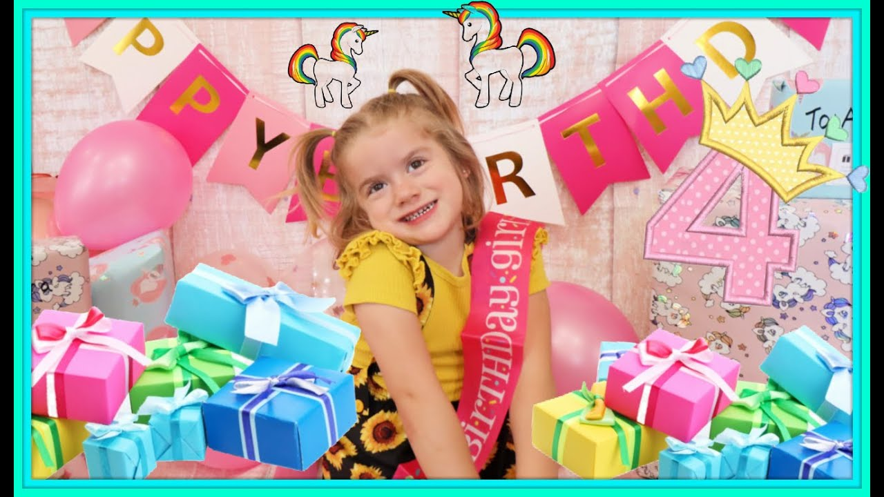 AURORA SPECIAL BIRTHDAY   4 YEAR OLD BIRTHDAY PARTY
