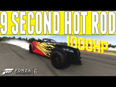 Forza 6 9 Second Hot Rod : 1000HP PLYMOUTH PROWLER Drag Build - FM6 DLC