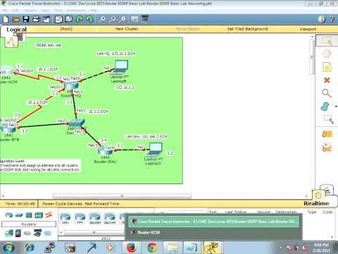 Router EIGRP Basic Lab Khmer