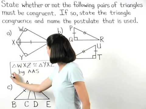 Hypotenuse Leg | Angle Angle Side | MathHelp.com
