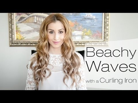 Beachy Waves Hairstyle for Everyday Using a Curling Iron | Fancy Hair Tutorial