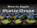 The Basics: How to Apply Static Grass on Miniatures