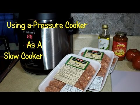 Making Sausage in a Pressure Cooker Used as a Crock Pot