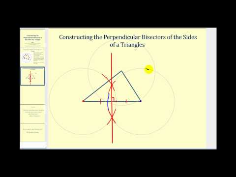 Constructing the Perpendicular Bisectors of the Sides of a Triangle