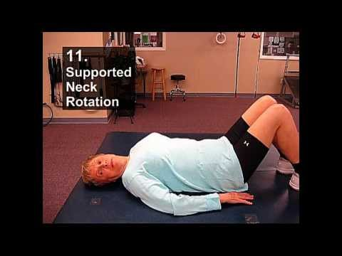 Fall Prevention Exercises (Flexibility Series) - Supported Neck Rotation