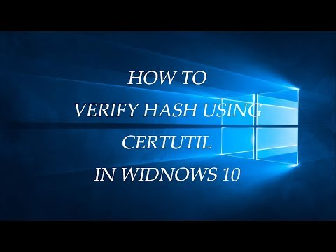 How to Verify Hash MD5 SHA256 Using CertUtil in Windows 10