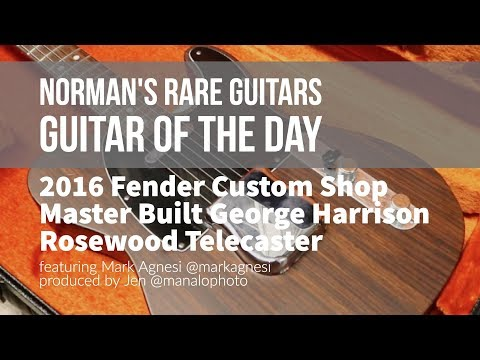 Norman's Rare Guitars - Guitar of the Day: Fender Master Built George Harrison Rosewood Telecaster