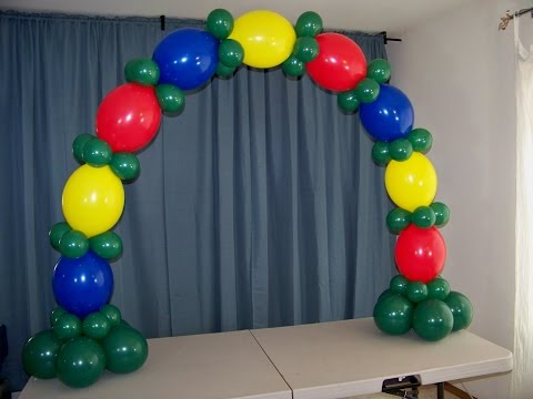 How To Make A Table Top Balloon Arch- No Helium