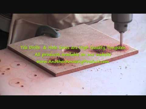 How to drill holes in clay tile without breaking them