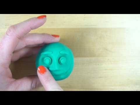 How to sculpt a simple face using play-doh or clay