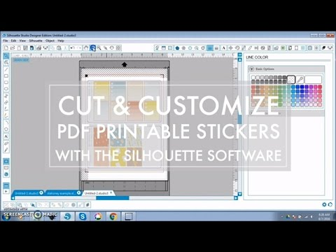 How To Cut & Customize Printable PDF Sticker Sheets in Silhouette Software // 516vlogs