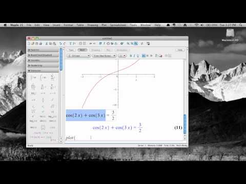 Solving equations in Maple 15