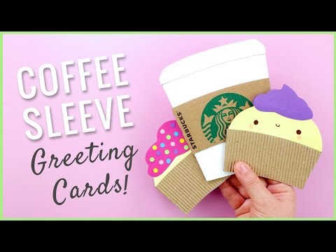DIY Greeting Cards from Coffee Sleeves | Recycled Crafts