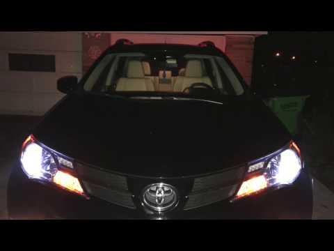 Review & Installing LED CREE headlights - 2015 Toyota Rav4