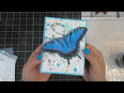 Big Blue Butterfly card