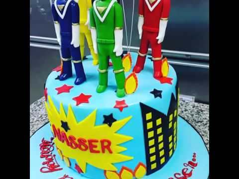 This Power Ranger cake...on the top characters are made pastillo😉👌👍abdel tamalout