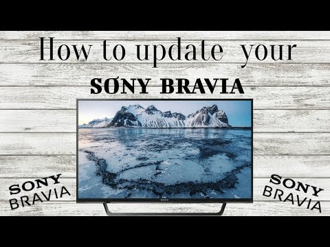 How to update the SONY BRAVIA