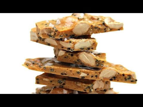Salted Marcona Almond Brittle - with Black Sesame and Coriander