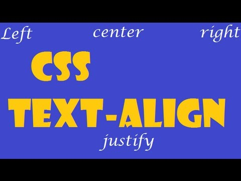 CSS How To: text-align