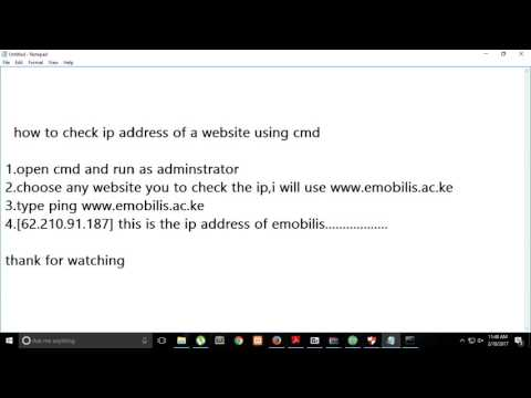 How to check ip address of your website using cmd