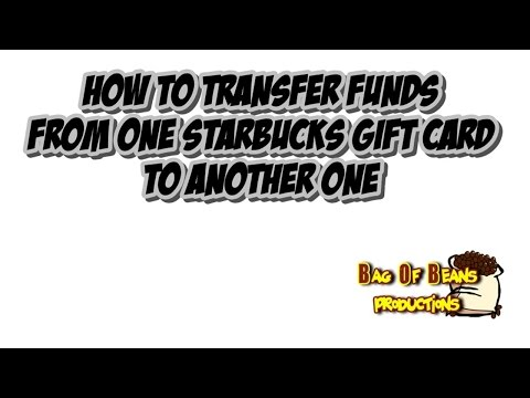 Transferring Starbucks gift card balance.