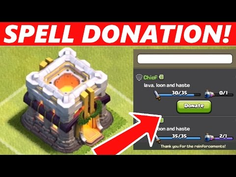 Clash Of Clans | NEW SPELL DONATIONS CONFIRMED!! : NEW WINTER UPDATE 2015!