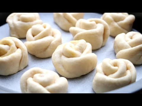 How To Make Soft & Chewy Milk Bread / Rose Flower Buns / Dinner Rolls Recipe