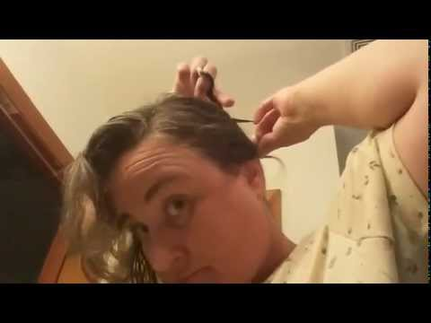 How to cut your hair in a short bob using ponytail method