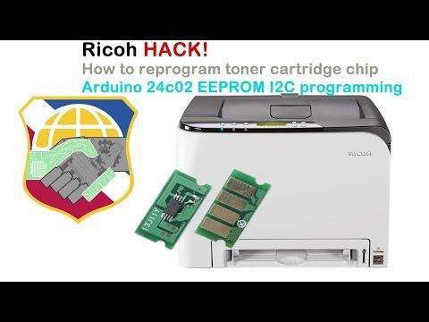How to hack Ricoh Aficio toner cartridge chip using Arduino UNO - program 24c02 EEPROM I2C
