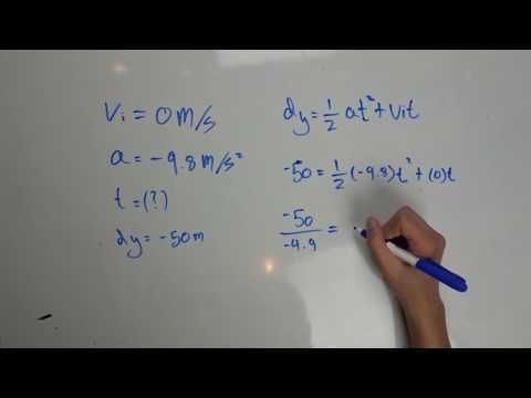 How to Find Time And Final Velocity By Using The Kinematic Equations