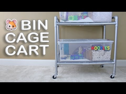DIY Hamster Bin Cage Cart by Hammy Time