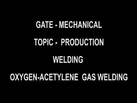 Oxy Acetylene gas welding process